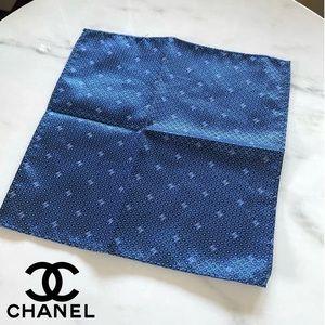 Chanel Navy Pocket Square